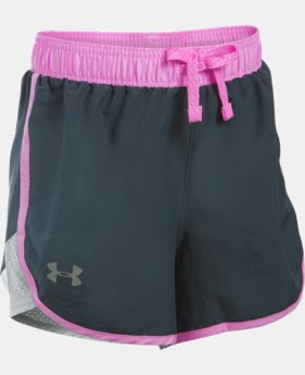 Best Seller Girls' UA Fast Lane Shorts LIMITED TIME: FREE SHIPPING  $24.99