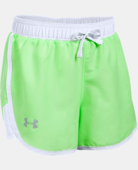 Girls' UA Fast Lane Shorts  1 Color $11.24 to $18.99