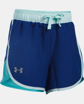Best Seller Girls' UA Fast Lane Shorts LIMITED TIME: FREE SHIPPING 2 Colors $24.99