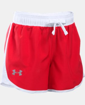 Best Seller Girls' UA Fast Lane Shorts LIMITED TIME: FREE SHIPPING 3 Colors $24.99