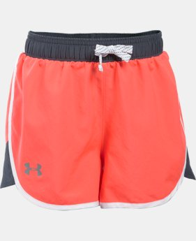 Girls' UA Fast Lane Shorts   $17.24 to $22.99