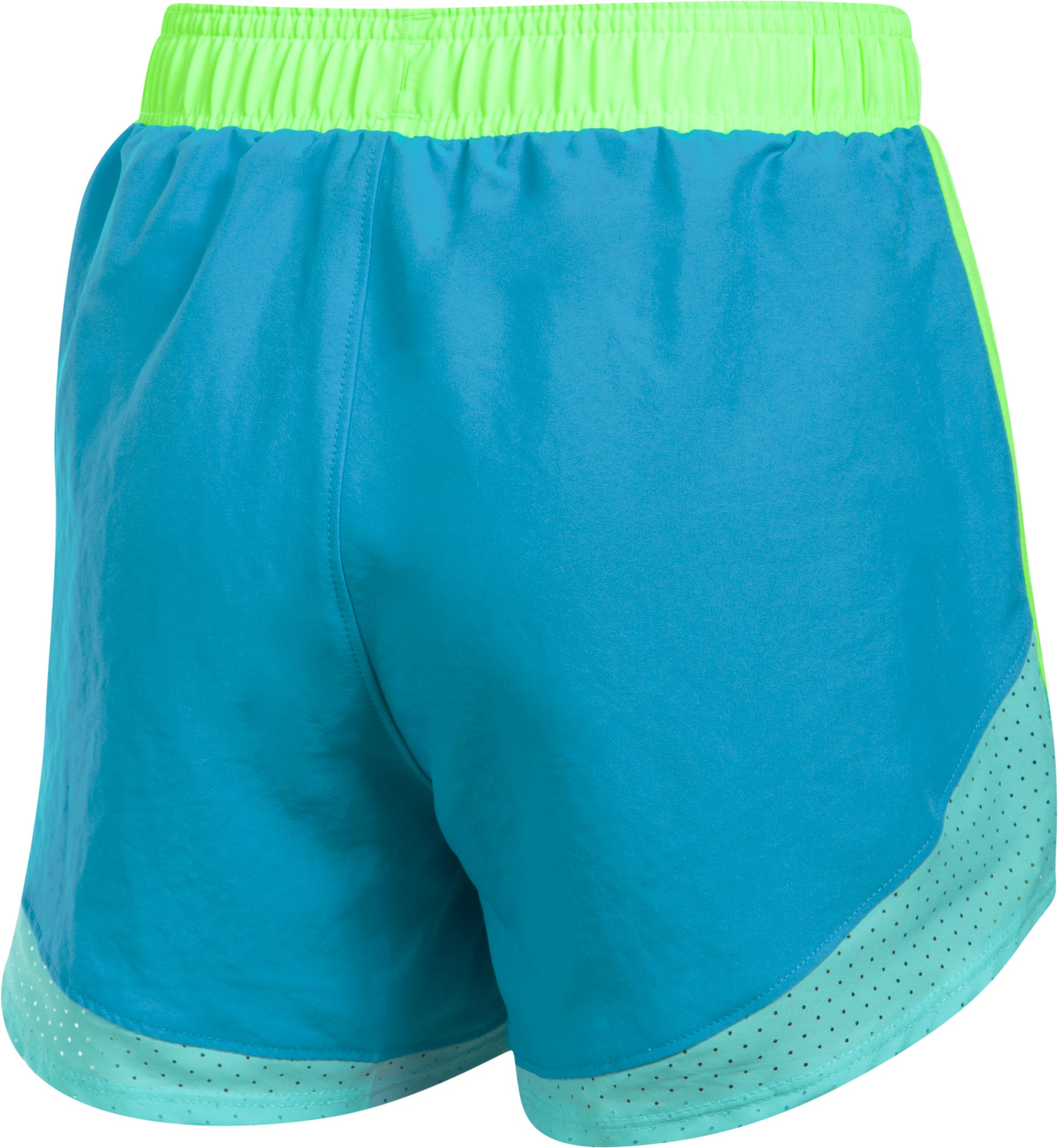 Girls' UA Fast Lane Shorts, BLUE SHIFT,