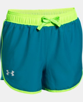 Girls' UA Fast Lane Shorts   $18.99