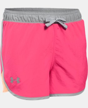 Girls' UA Fast Lane Shorts   $14.99 to $18.99