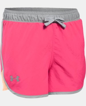 Girls' UA Fast Lane Shorts LIMITED TIME: FREE U.S. SHIPPING 1 Color $11.24 to $18.99