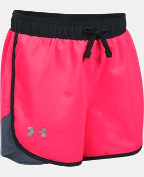 Girls' UA Fast Lane Shorts   $24.99