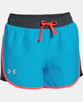 Girls' UA Fast Lane Shorts  1 Color $14.99 to $18.99