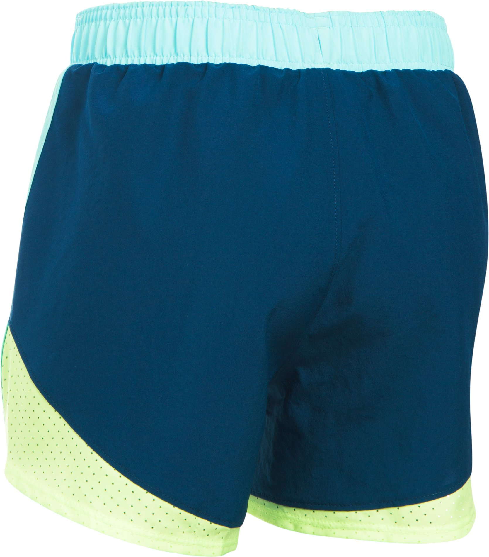 Girls' UA Fast Lane Shorts, BLACKOUT NAVY,