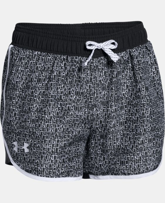 Girls' UA Fast Lane Novelty Shorts   $24.99