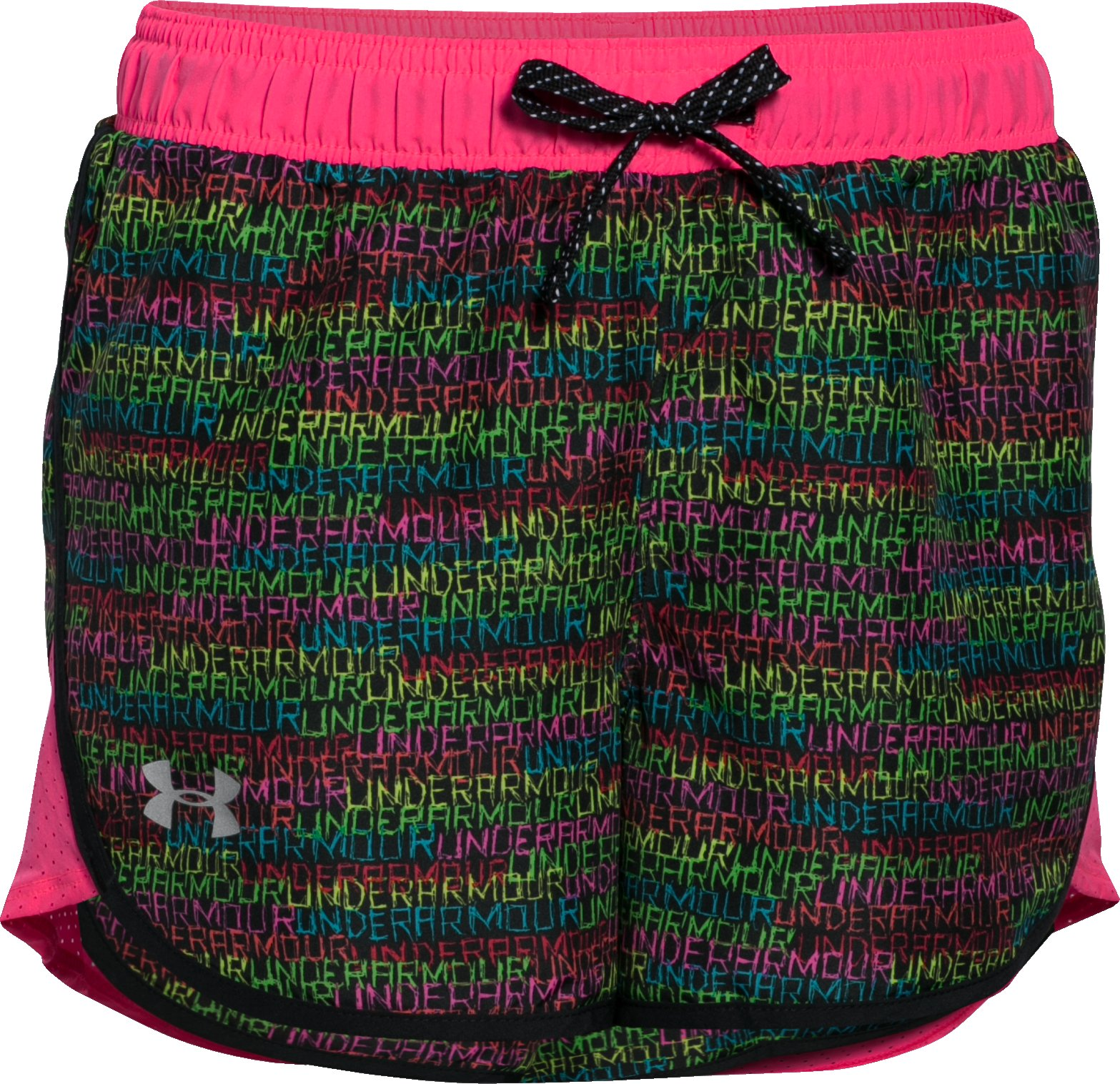 Girls' UA Fast Lane Novelty Shorts, Black , zoomed image