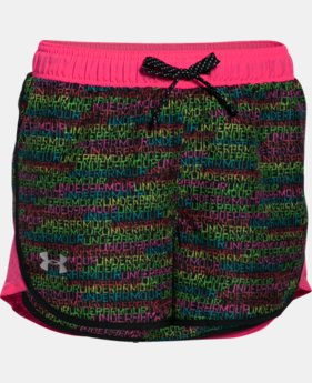 Girls' UA Fast Lane Novelty Shorts  1 Color $32.99