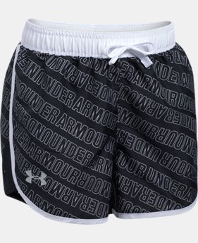 Girls' UA Fast Lane Printed Shorts   $27.99