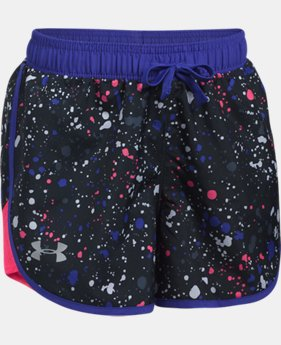 Girls' UA Fast Lane Printed Shorts  3 Colors $27.99