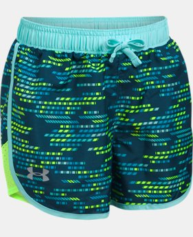 Girls' UA Fast Lane Printed Shorts  1 Color $19.59