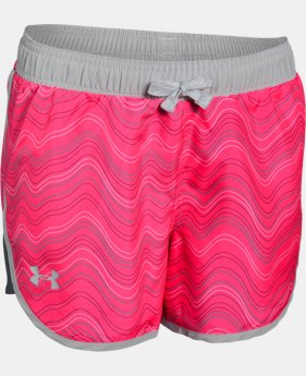Girls' UA Fast Lane Novelty Shorts   $12.74 to $15.74