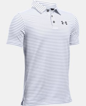 New Arrival Boys' UA Composite Stripe Polo  1 Color $39.99