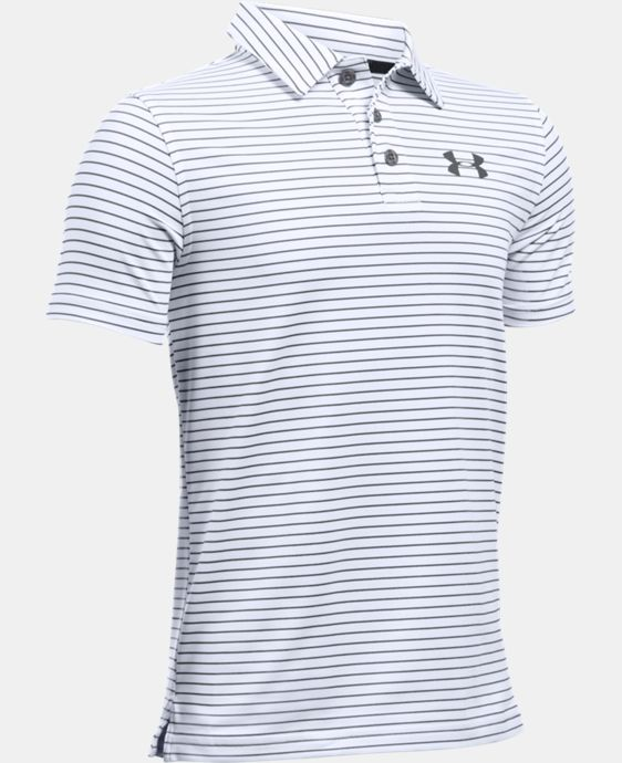 New to Outlet Boys' UA Composite Stripe Polo  LIMITED TIME: FREE U.S. SHIPPING 1 Color