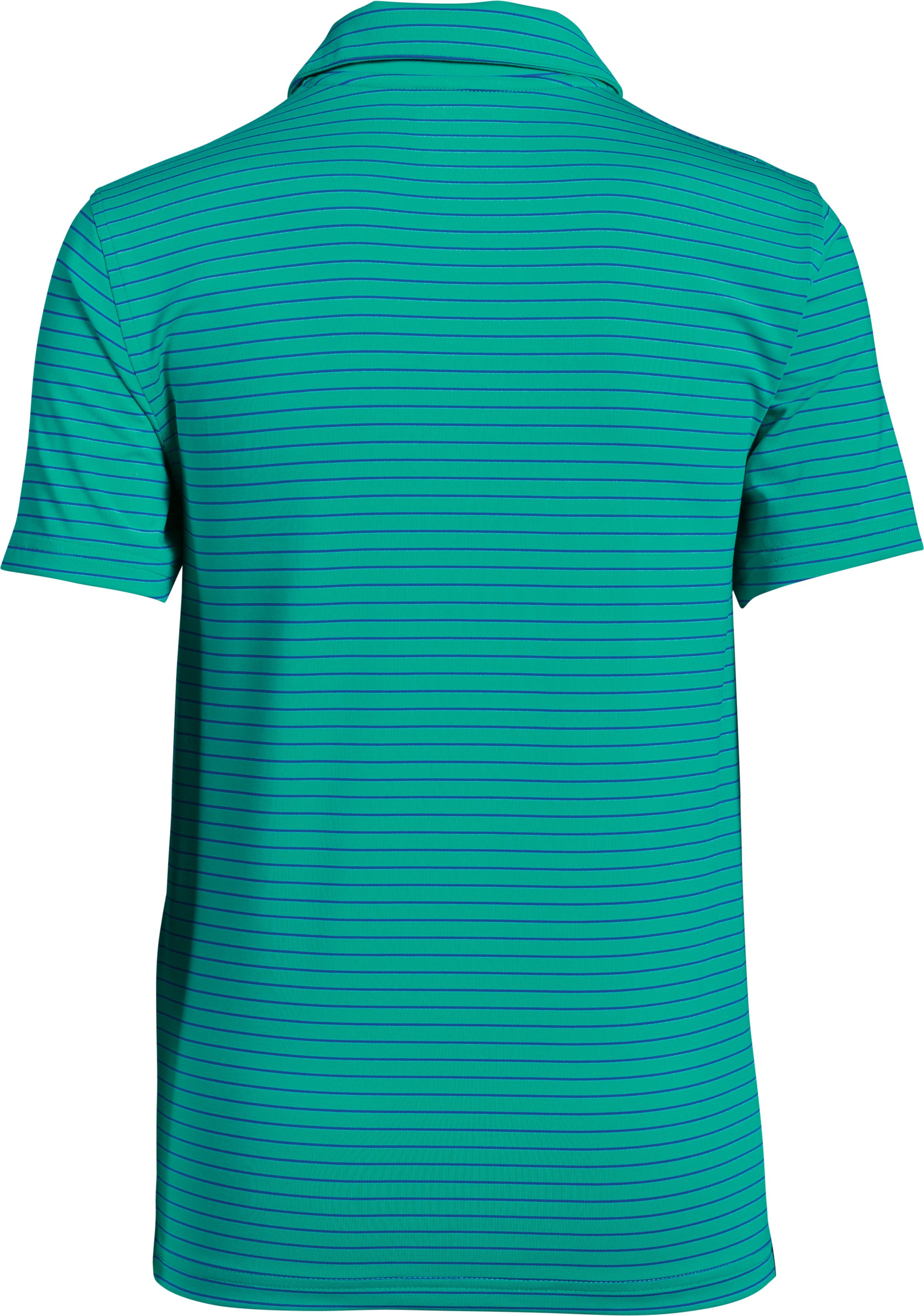 Boys' UA Composite Stripe Polo , GREEN MALACHITE