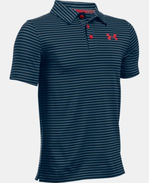 New Arrival Boys' UA Composite Stripe Polo  LIMITED TIME: FREE U.S. SHIPPING 1 Color $39.99