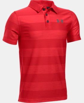 New Arrival  Boys' UA Composite Stripe Polo  LIMITED TIME: FREE SHIPPING  $33.99