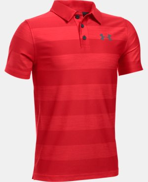 New Arrival  Boys' UA Composite Stripe Polo  LIMITED TIME: FREE SHIPPING 1 Color $33.99