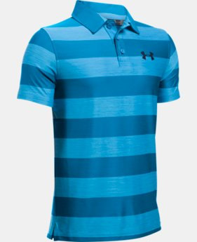 New to Outlet Boys' UA Composite Stripe Polo  LIMITED TIME: FREE U.S. SHIPPING 1 Color $22.49 to $29.99