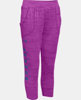 New Arrival  Girls' UA Tech™ Capri  1 Color $33.99