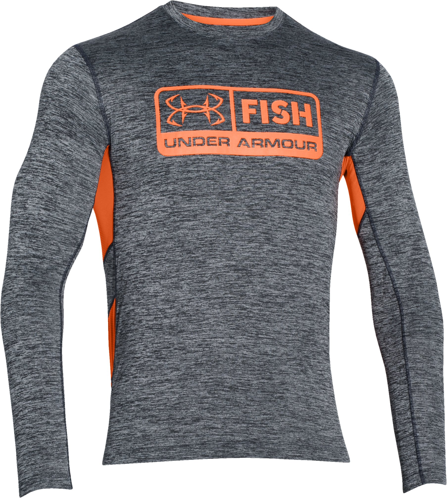 Men's UA Fish Hunter Long Sleeve T-Shirt, STEALTH GRAY