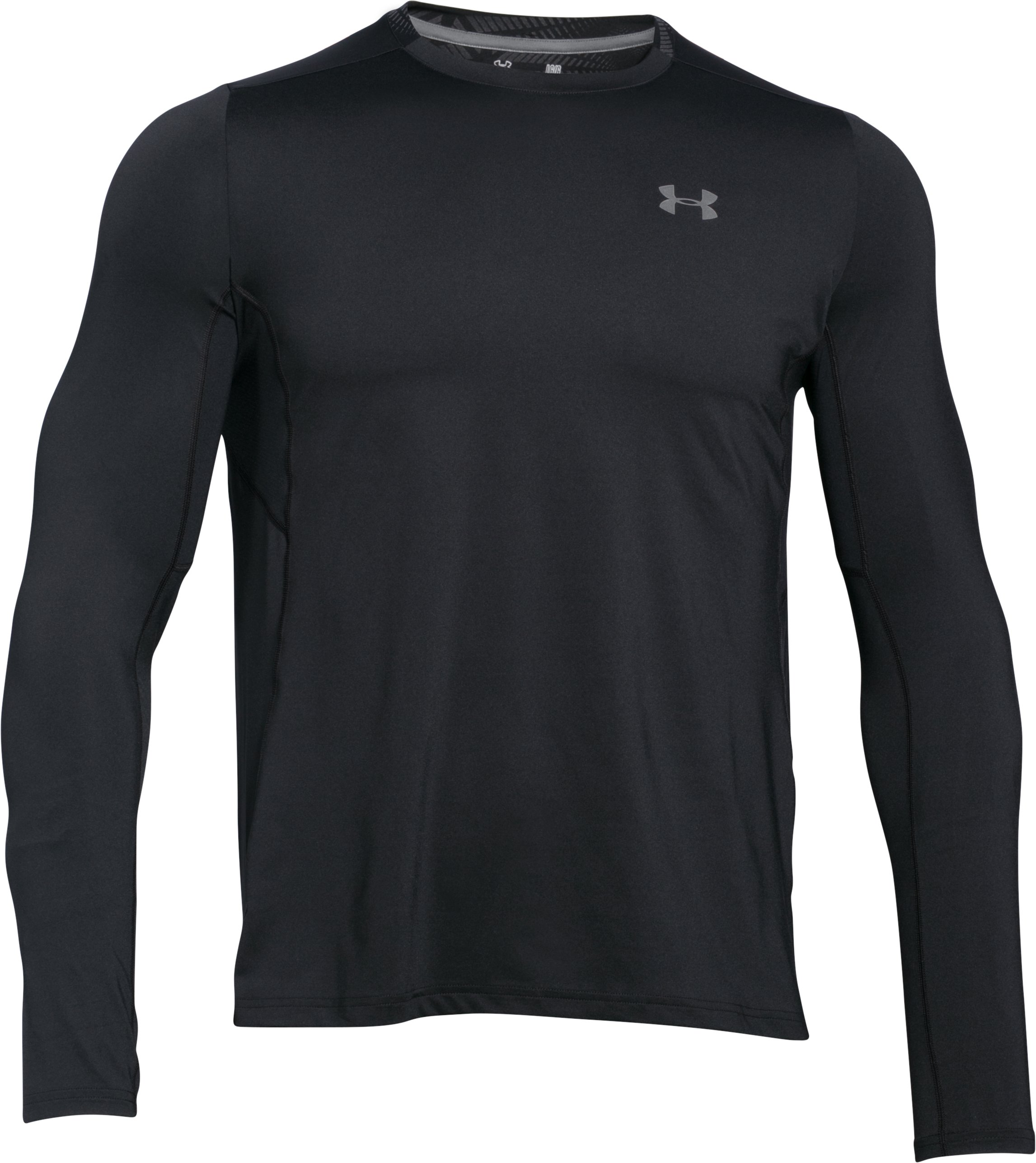 Men's UA CoolSwitch Run Long Sleeve, Black , undefined