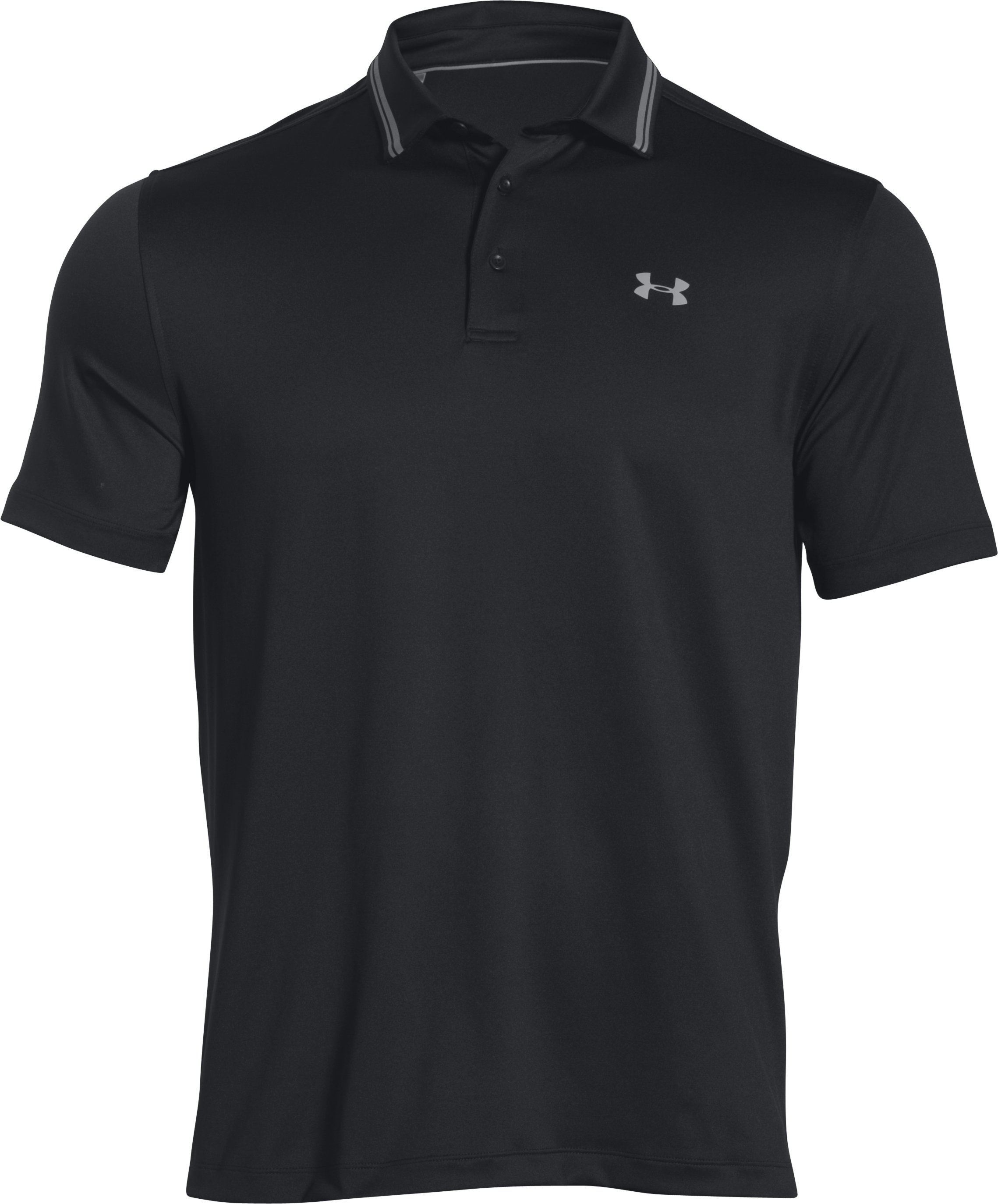 Men's UA coldblack® Address Polo, Black ,