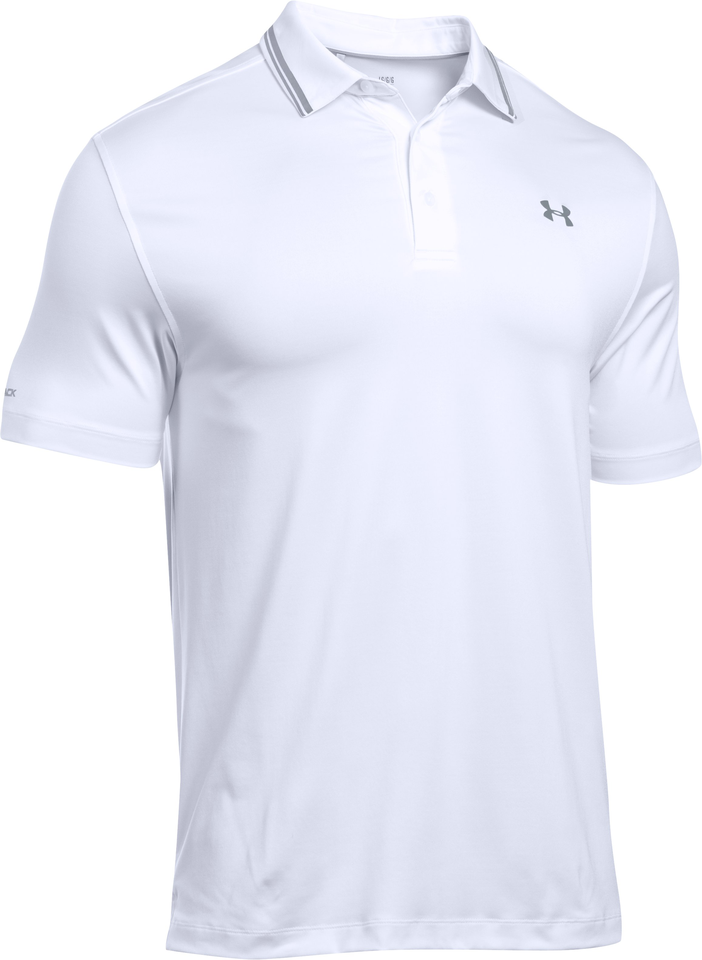 Men's UA coldblack® Address Polo, White