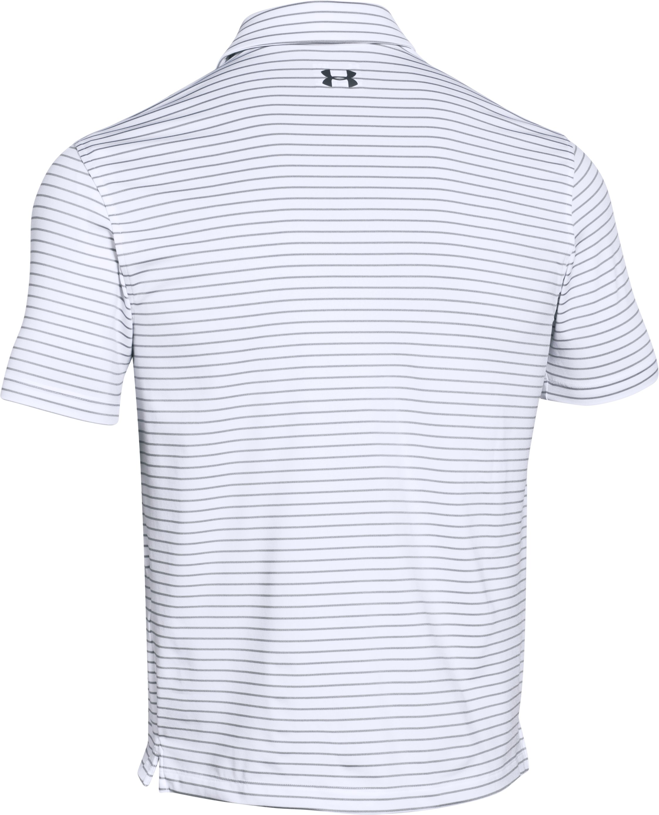 Men's UA coldblack® Address Stripe Polo, White