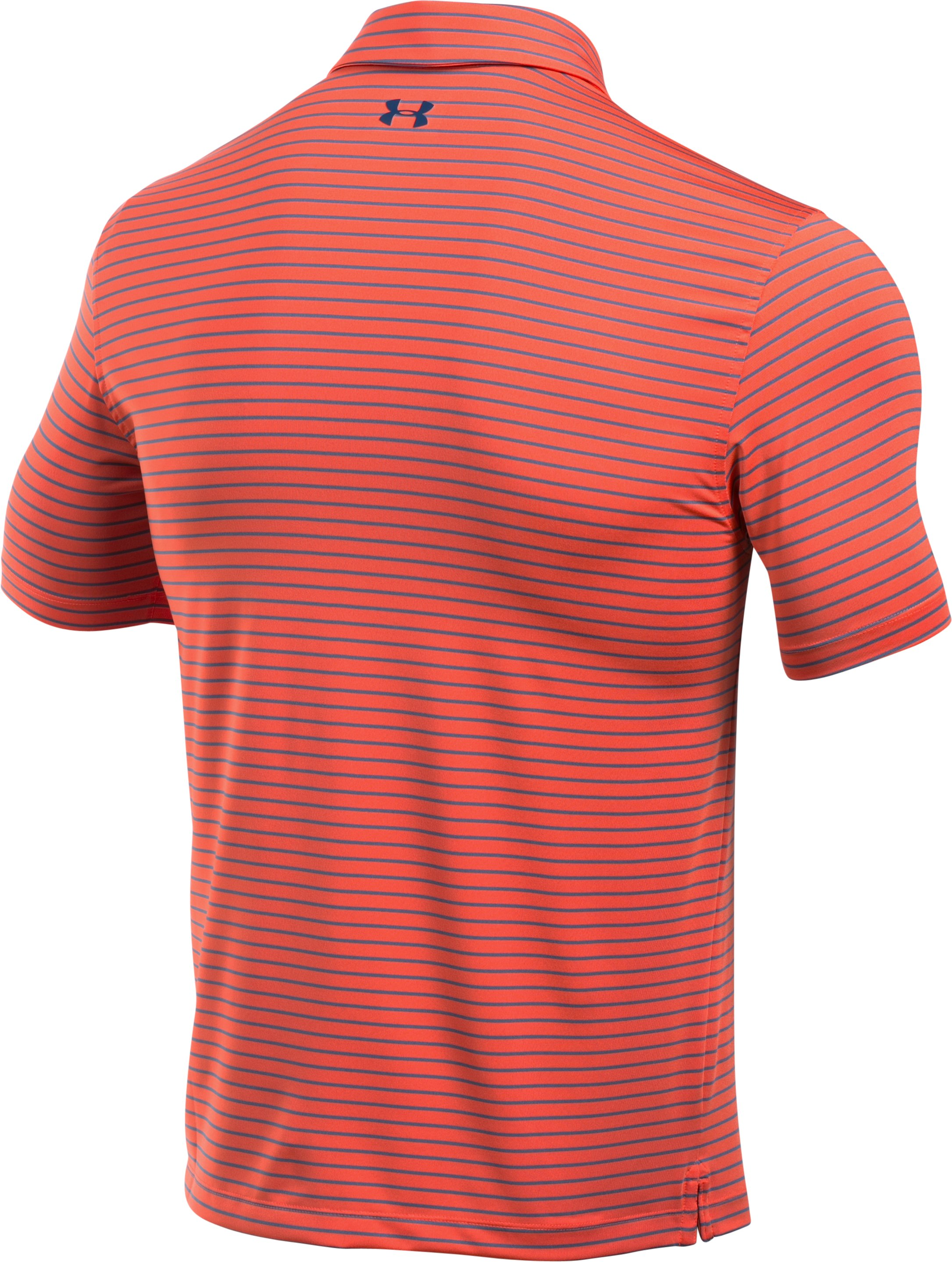 Men's UA coldblack® Address Stripe Polo, Fire