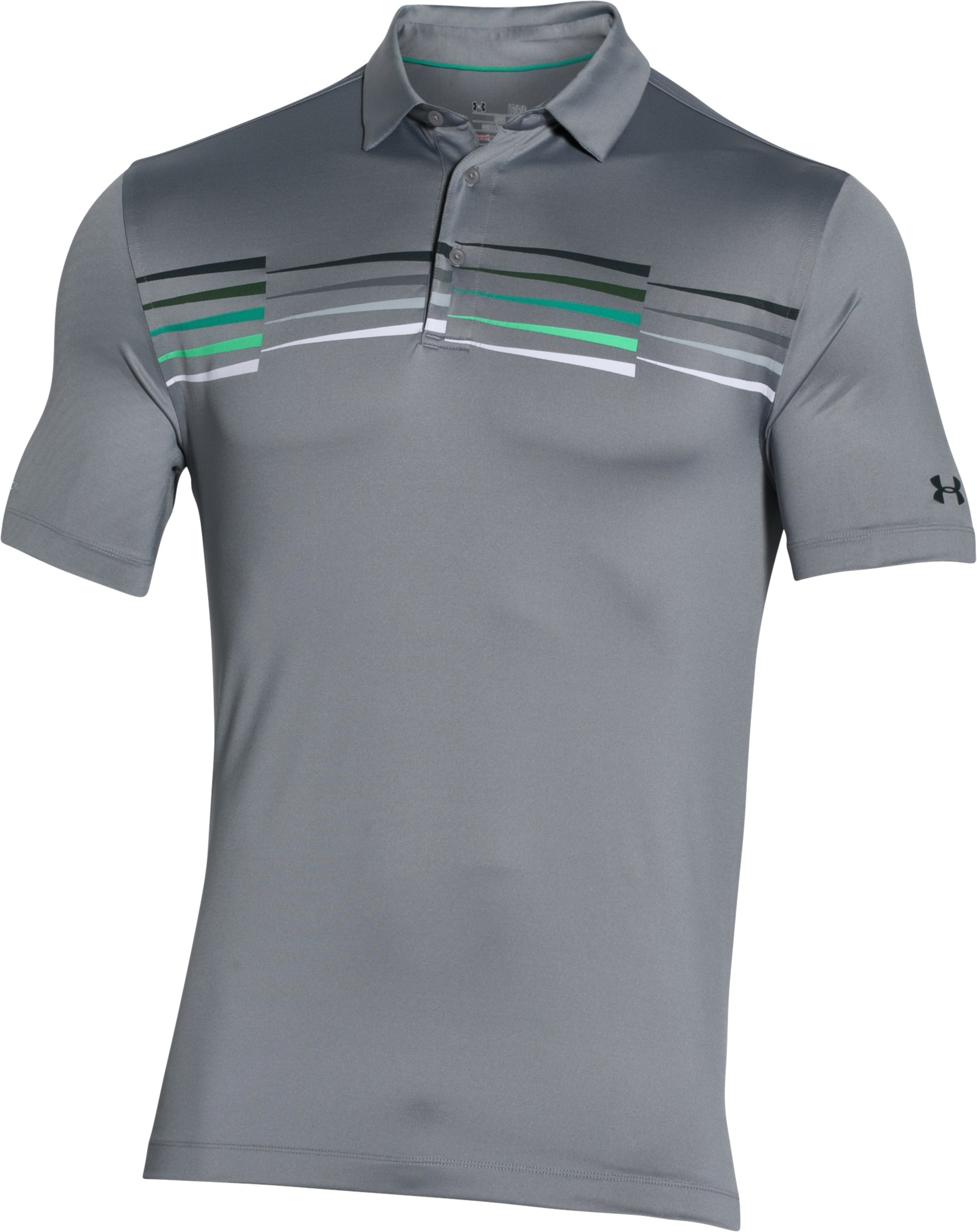 Men's UA coldblack® Ace Graphic Polo, Steel, undefined