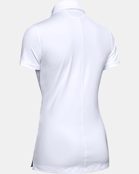 Polo UA Zinger à manches courtes pour femme, White, pdpMainDesktop image number 7