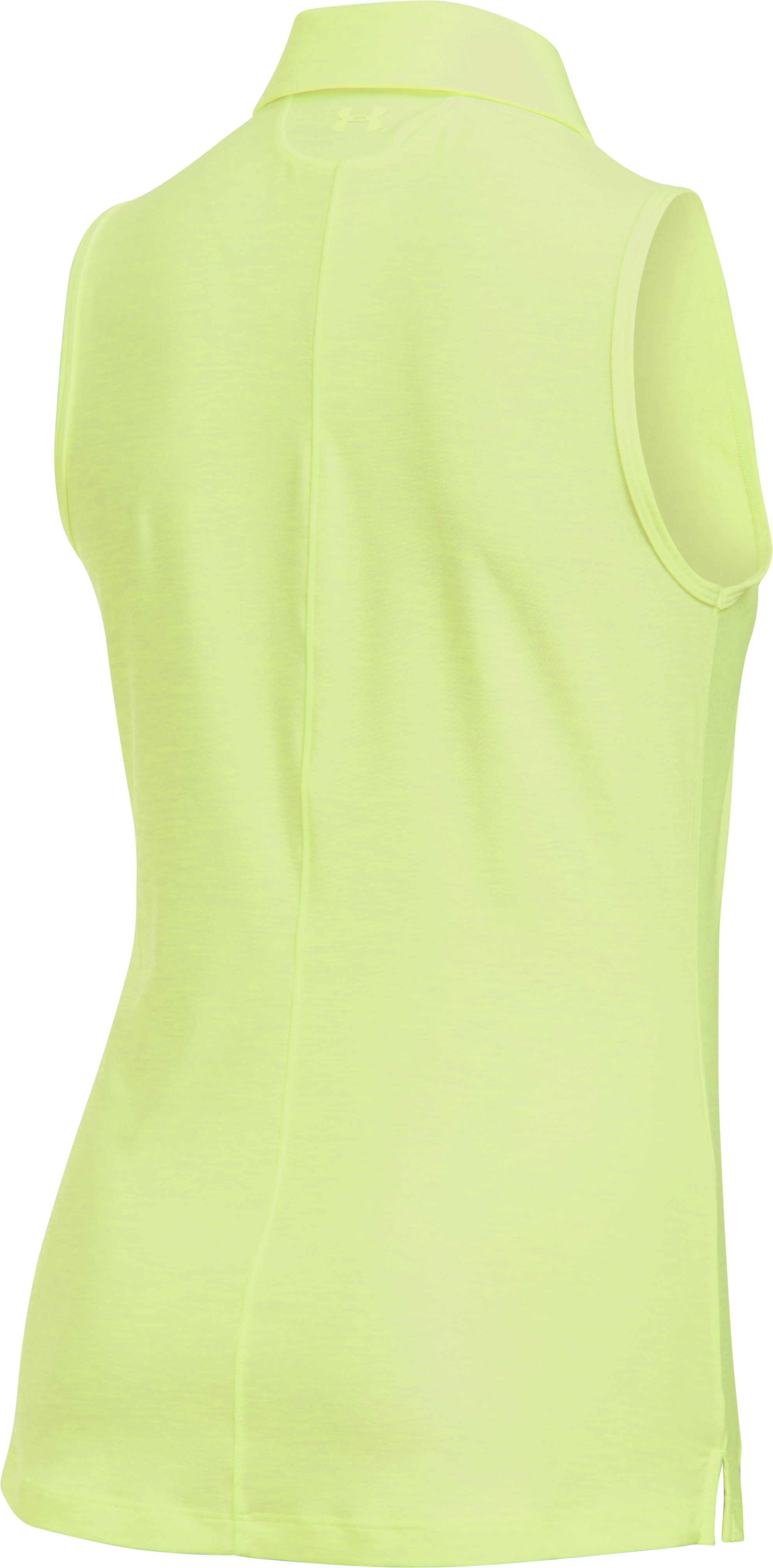Women's UA Zinger Sleeveless Polo, PALE MOONLIGHT,