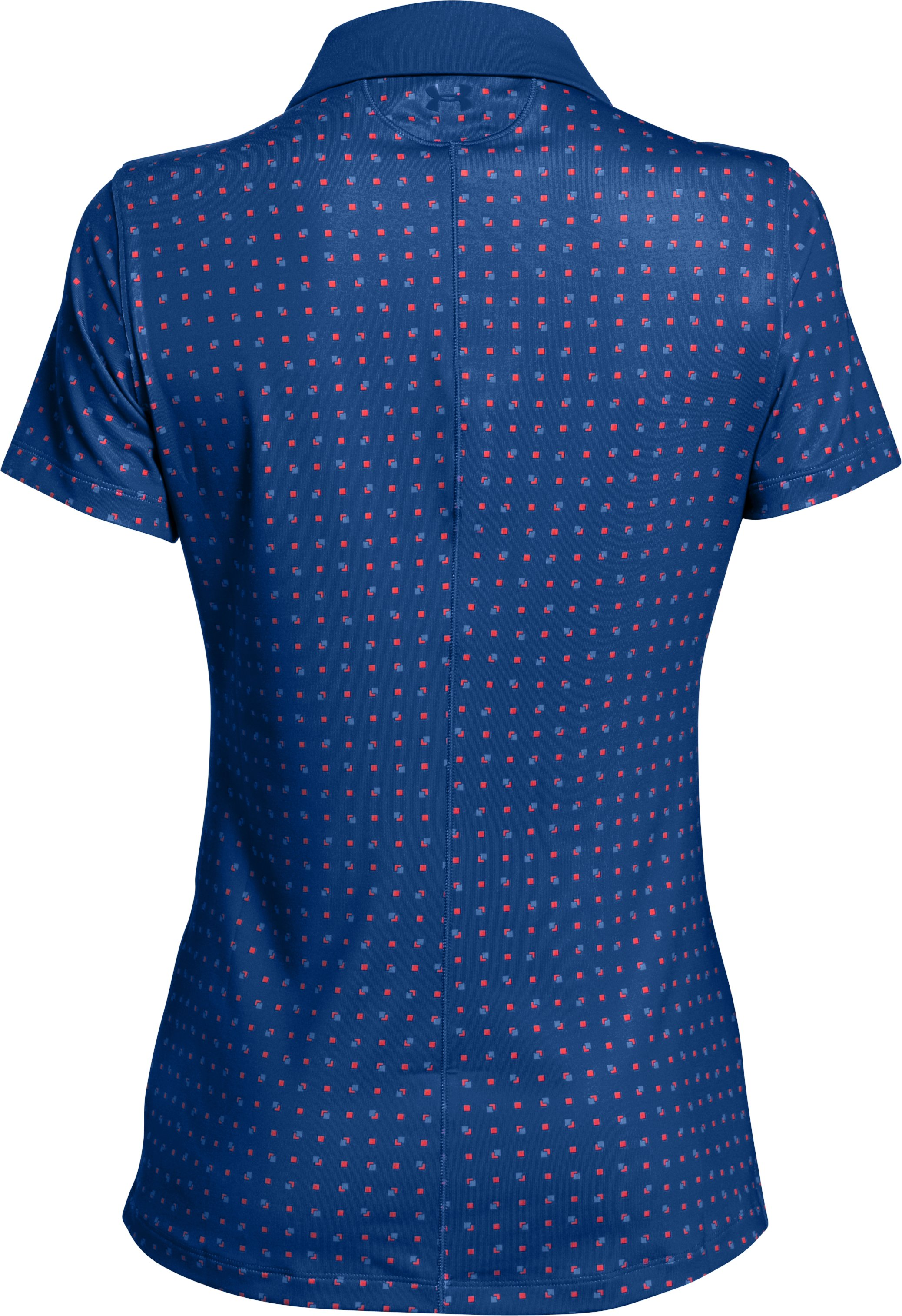 Women's UA Zinger Printed Short Sleeve Polo, COBALT