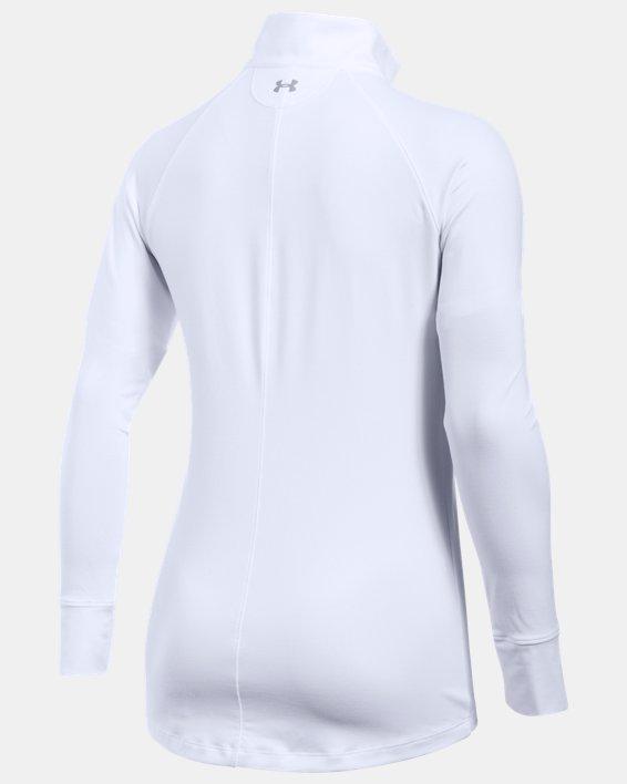 Women's UA Zinger ¼ Zip, White, pdpMainDesktop image number 4