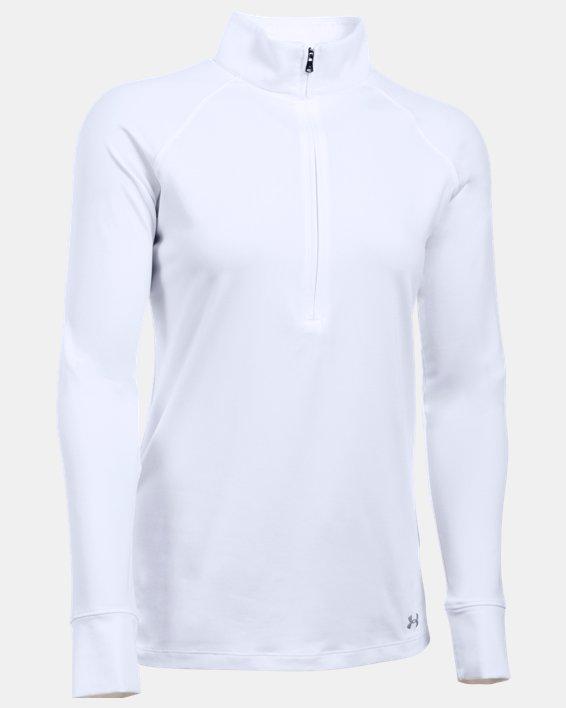 Women's UA Zinger ¼ Zip, White, pdpMainDesktop image number 3