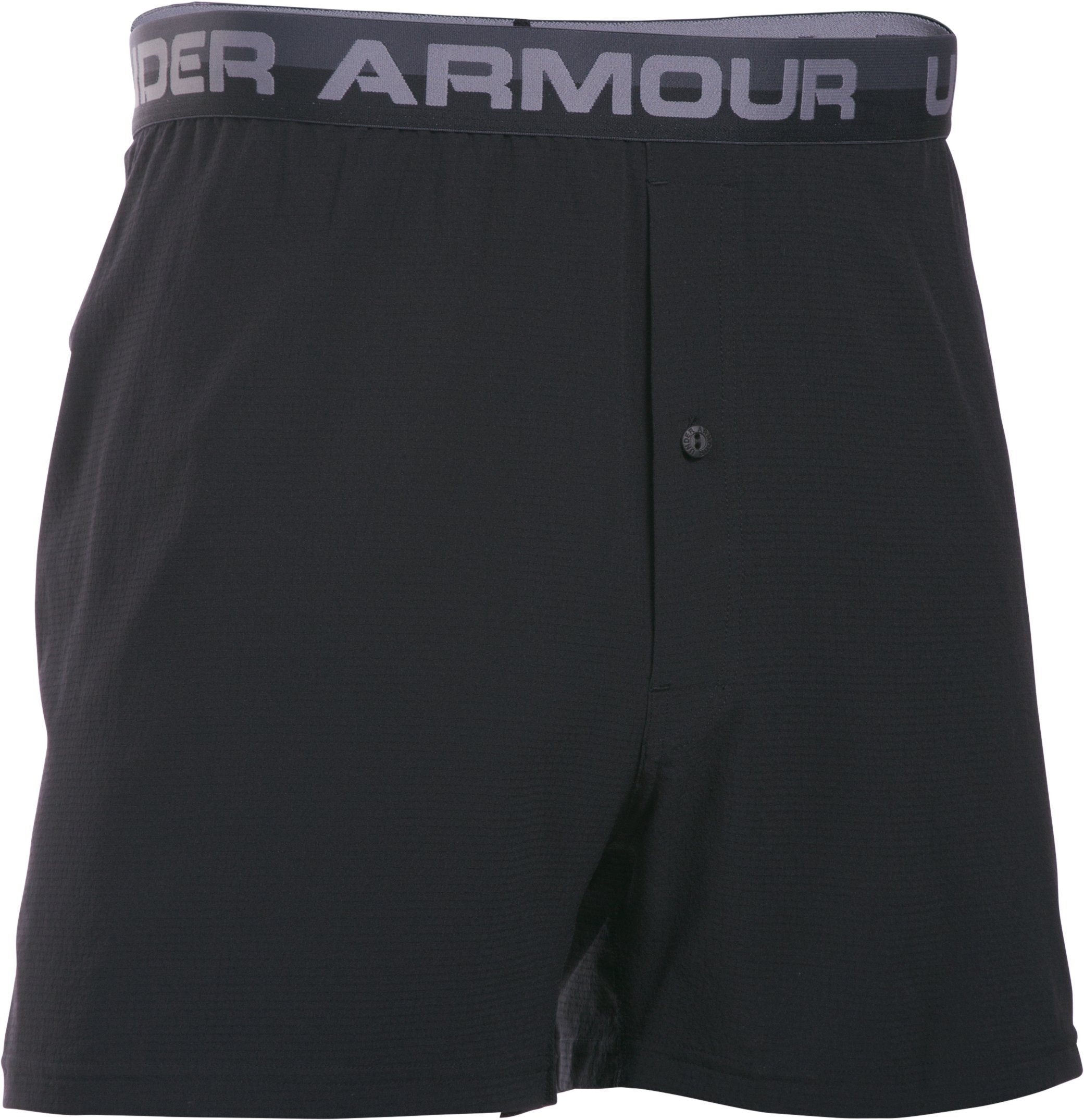 Men's UA ArmourVent™ Series Boxer Shorts, Black , undefined