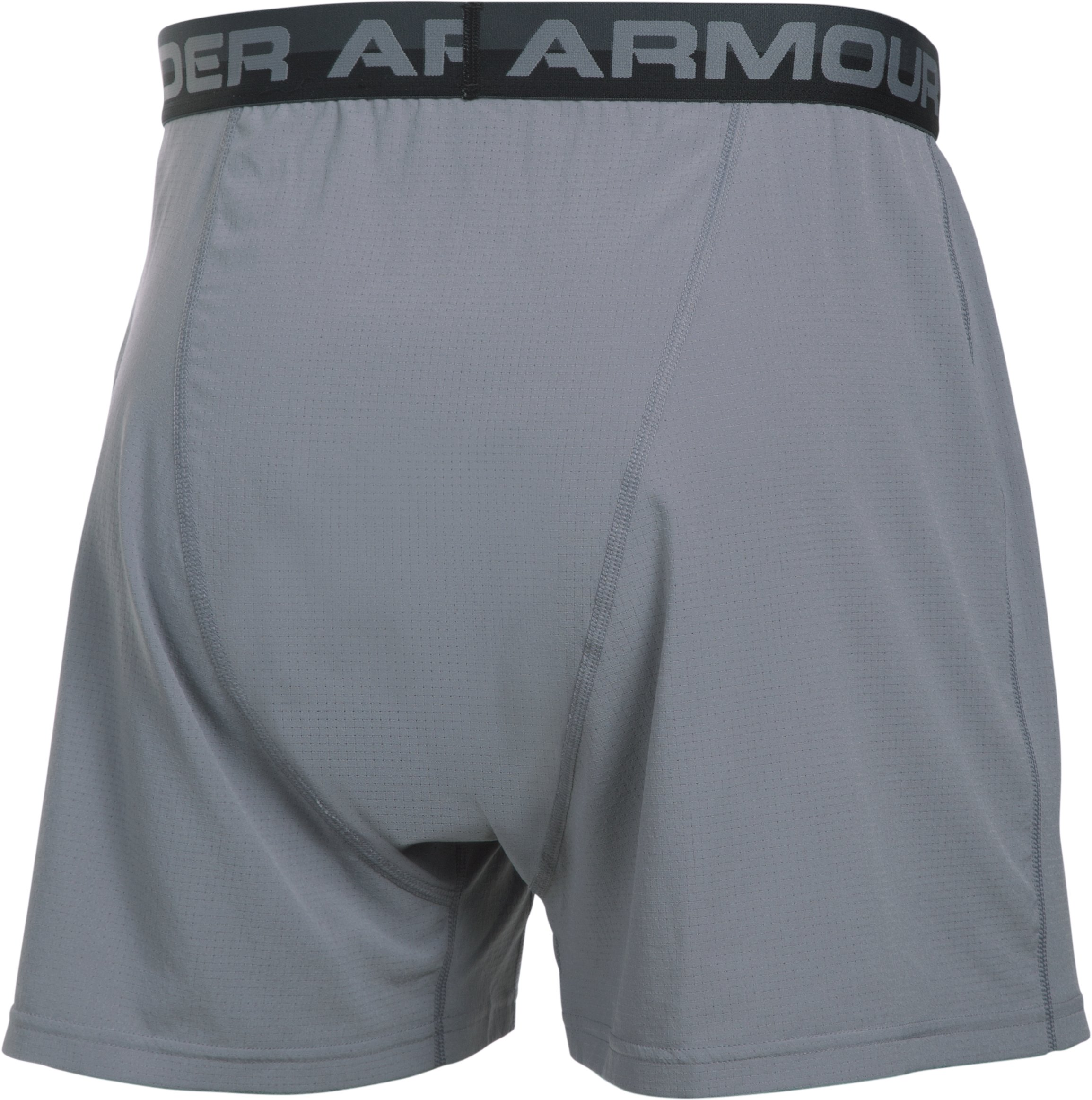 Men's UA ArmourVent™ Series Boxer Shorts, Steel