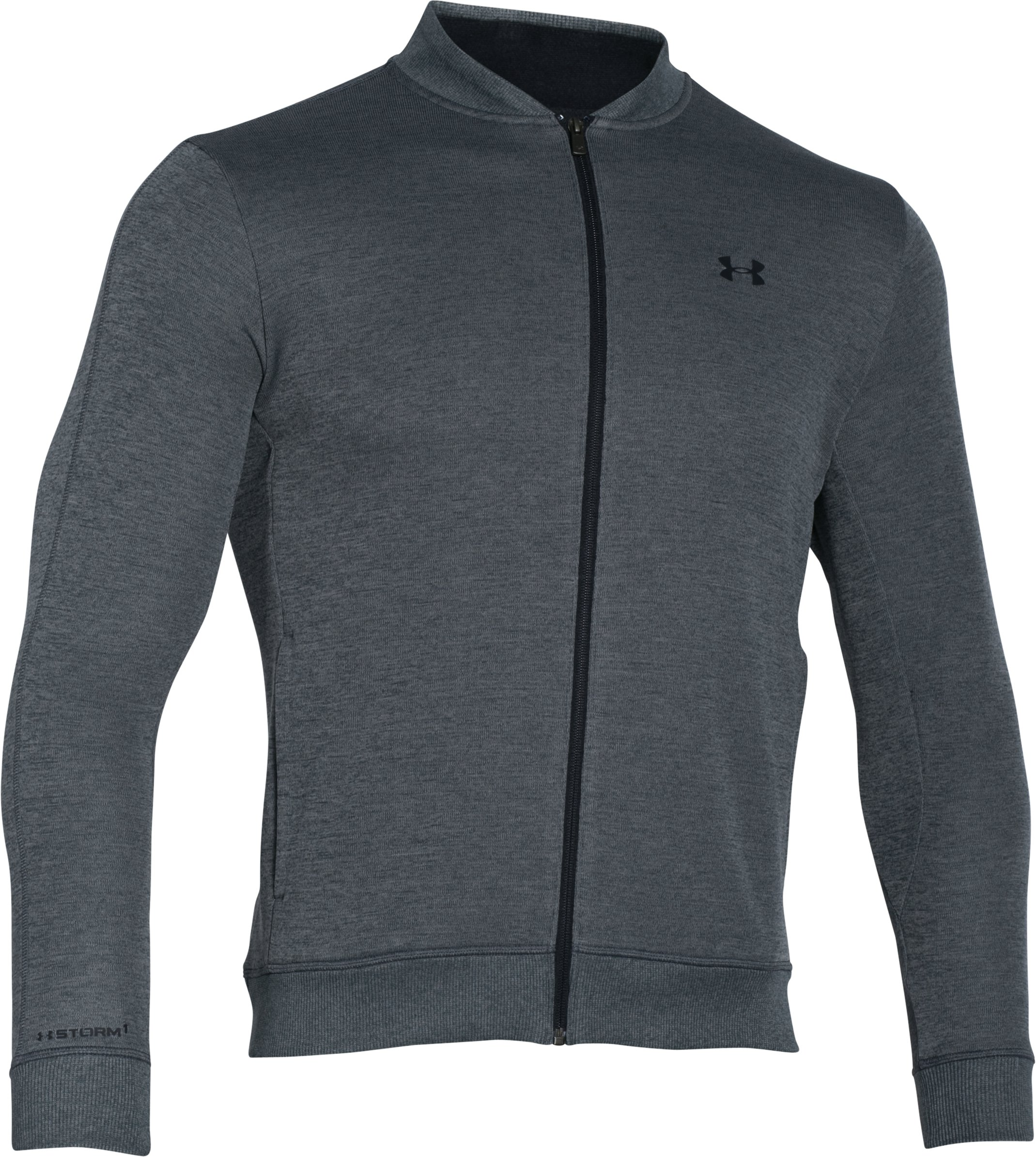 Men's UA Storm SweaterFleece Jacket, STEALTH GRAY, undefined