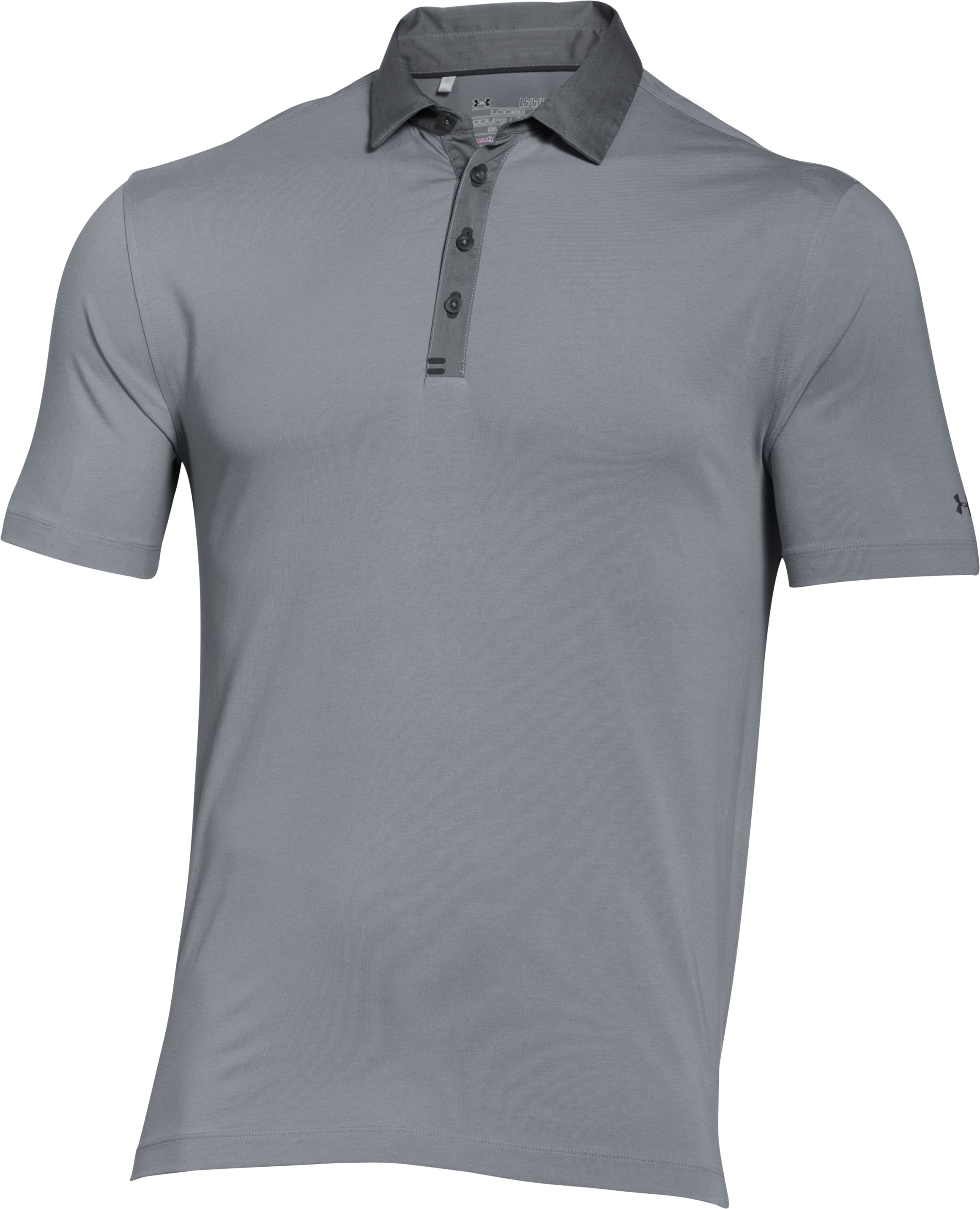 Men's UA Tips Polo, Steel