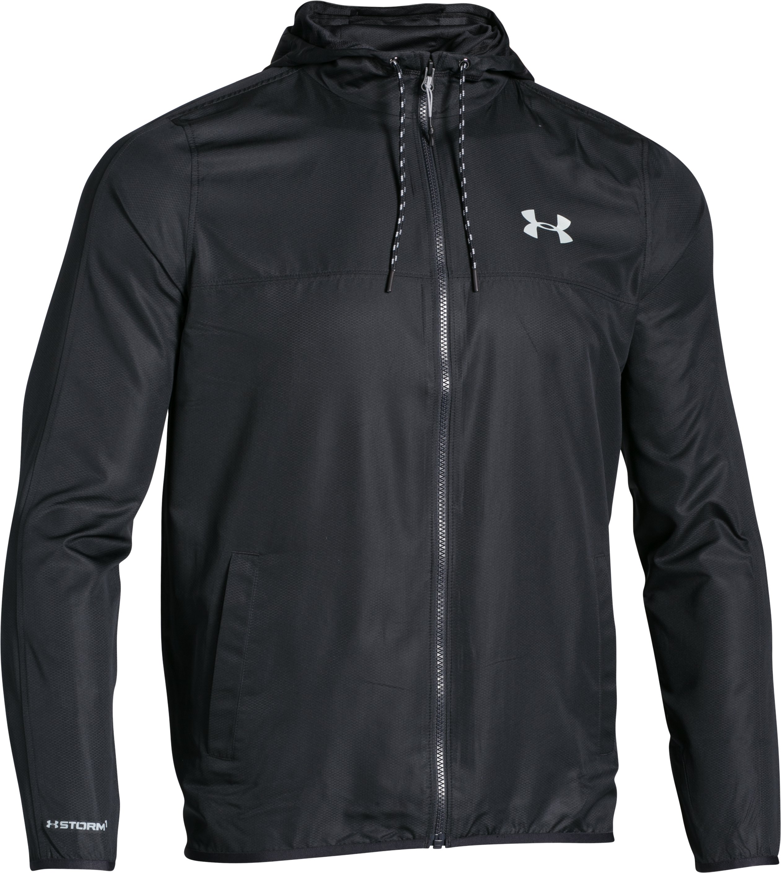 Men's UA Sportstyle Windbreaker, Black