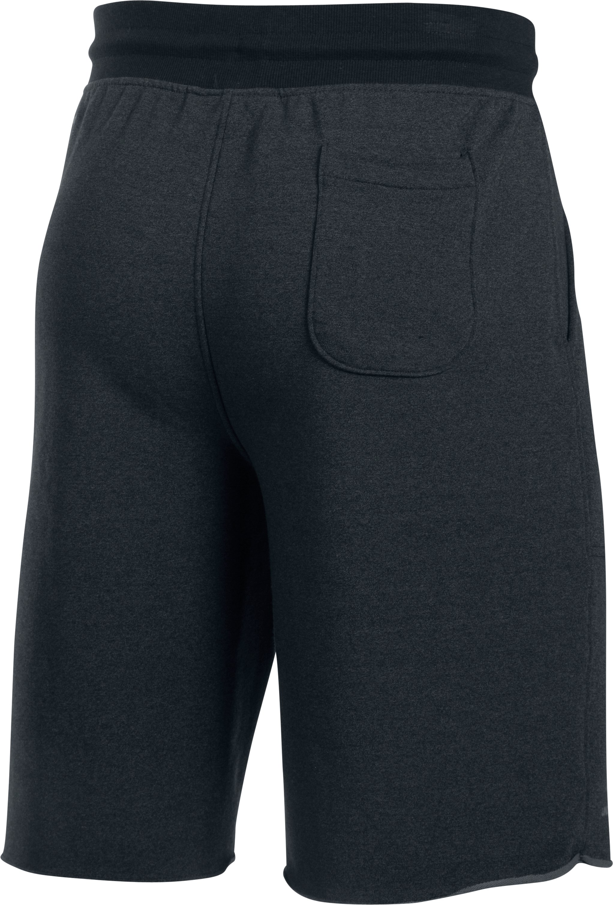 Men's UA Terry Fleece Shorts, Asphalt Heather, undefined