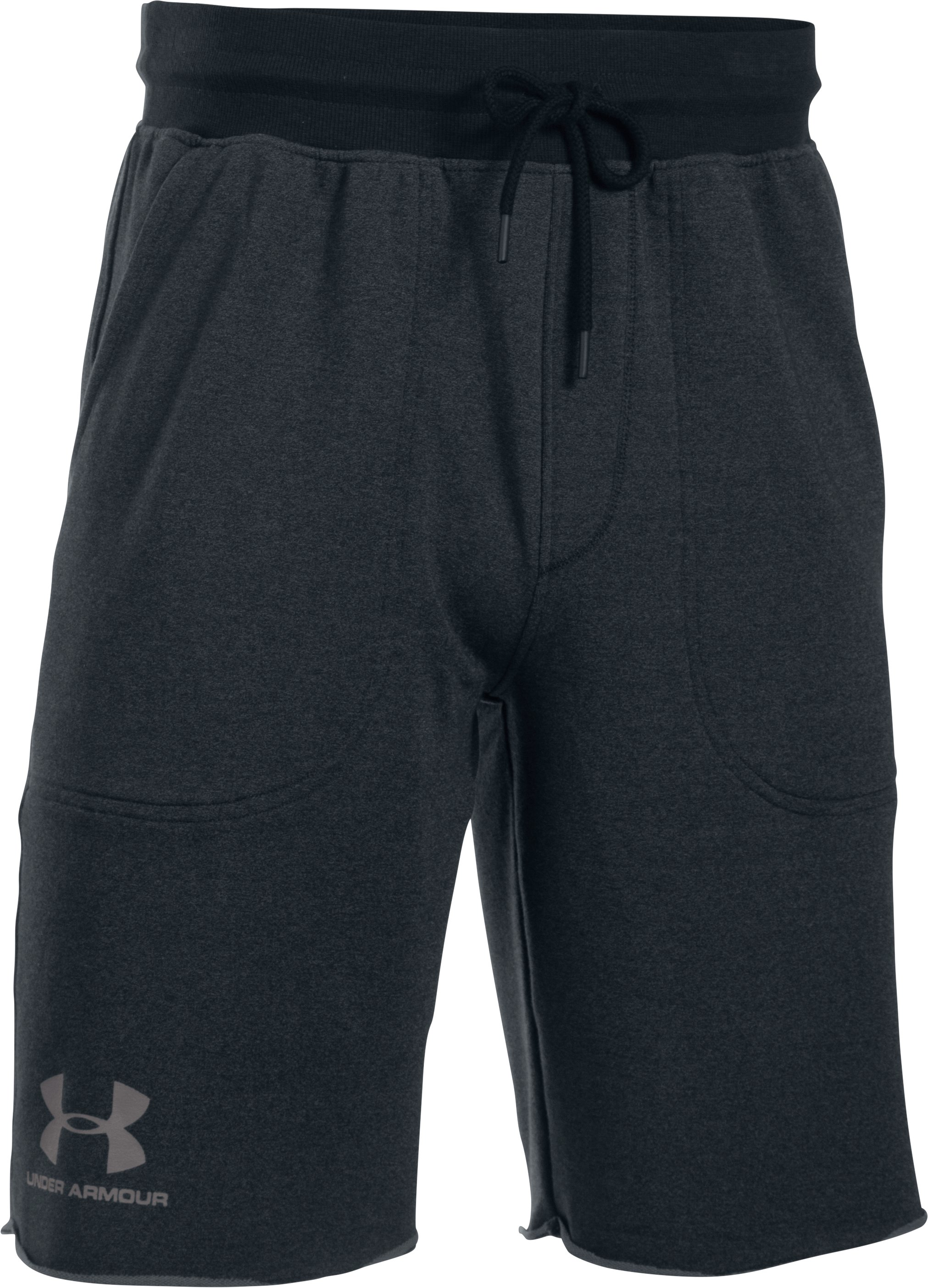 Men's UA Terry Fleece Shorts, Asphalt Heather,