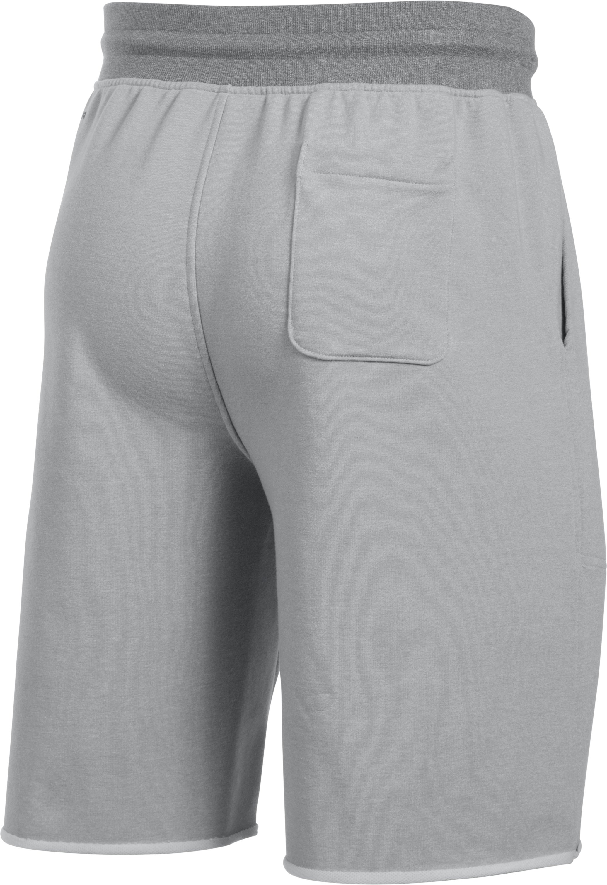 Men's UA Terry Fleece Shorts, AIR FORCE GRAY HEATHER