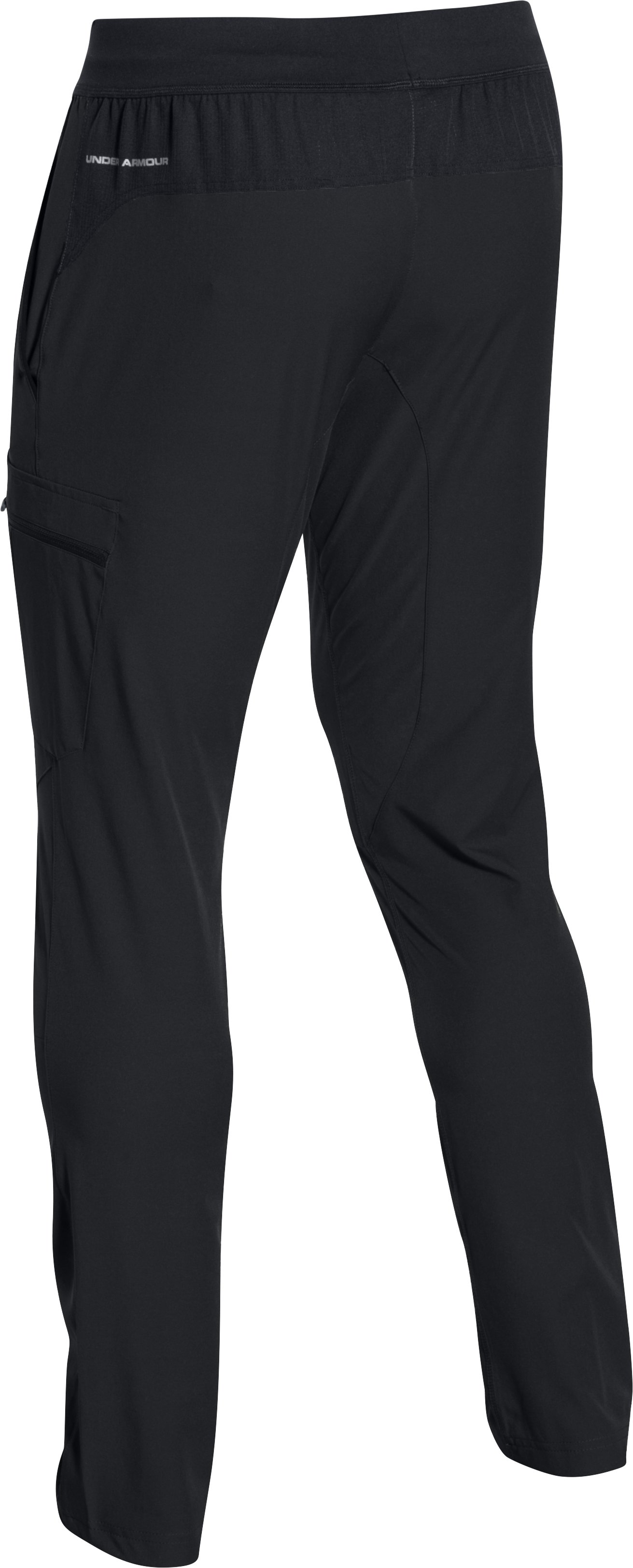 Men's UA Tapered Woven Pants, Black , undefined