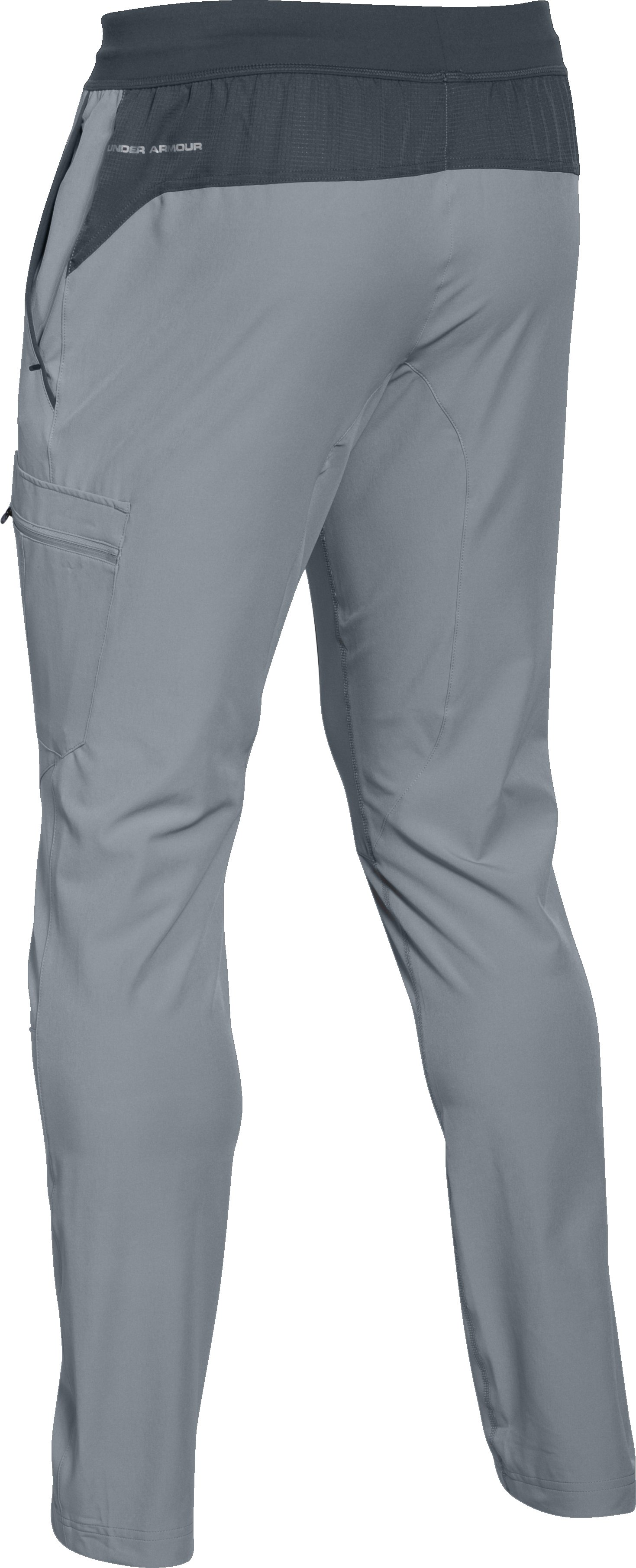 Men's UA Tapered Woven Pants, Steel