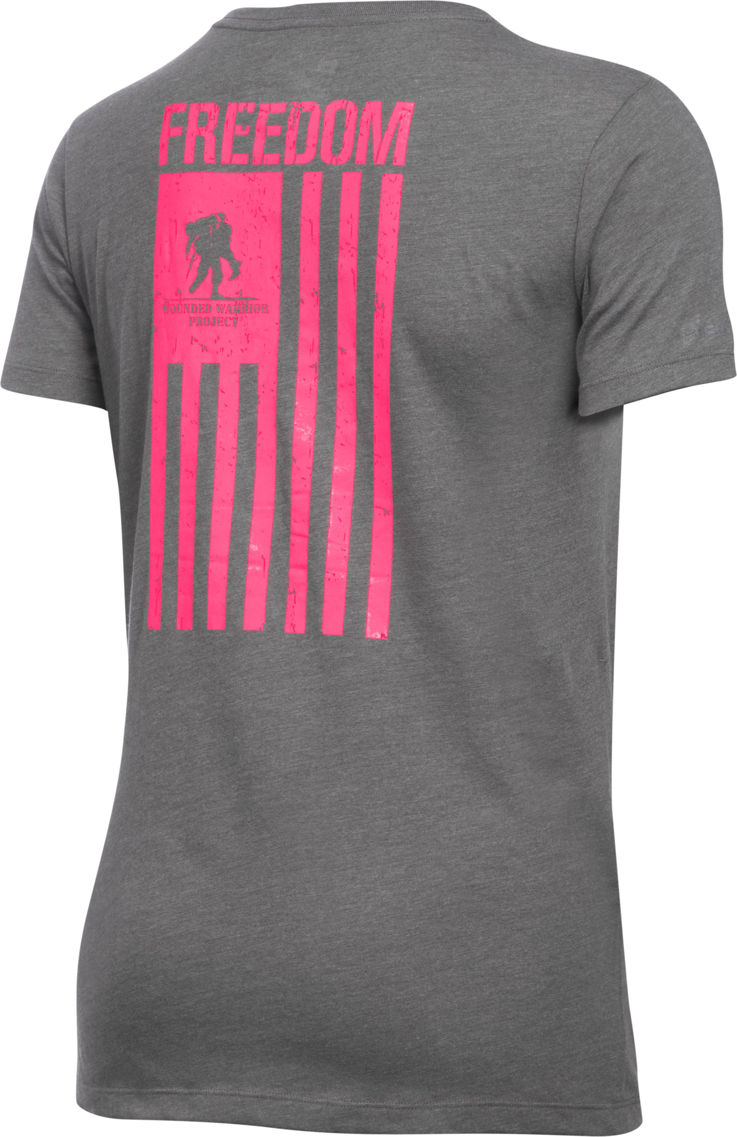 Women's UA Freedom Flag T-Shirt, Carbon Heather,